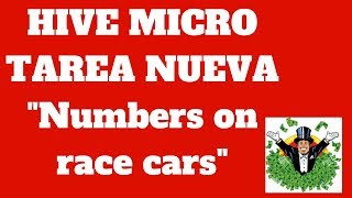HIVE MICRO TAREA NUEVA Numbers on race cars 1.35$ 2018