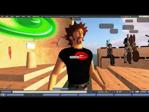 Philip Linden aka Philip Rosedale live in Second Life