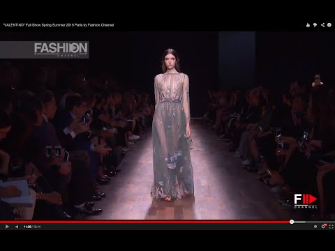 """""""VALENTINO"""" Full Show Spring Summer 2015 Paris by Fashion Channel"""