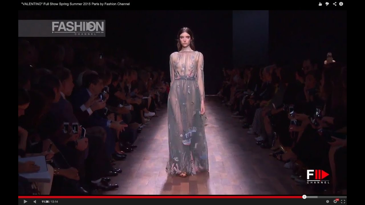 Valentino Full Show Spring Summer 2015 Paris By Fashion Channel Youtube