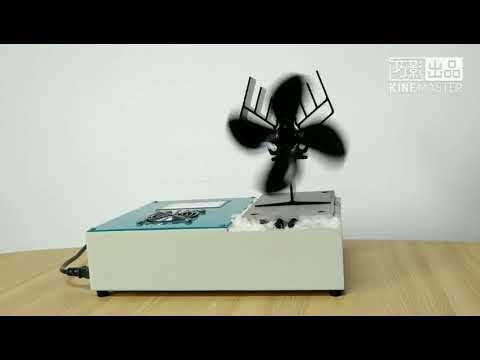 Maximize wood stove's heating effect by a stove fan like this - testing 2018 newest model