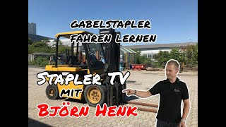 Stapler TV - Gabelstapler fahren lernen - Bedienung - Björn Henk Staplerpflegeprofi