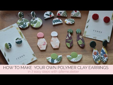 Make your own polymer clay earrings in 7 steps with @ferne.atelier