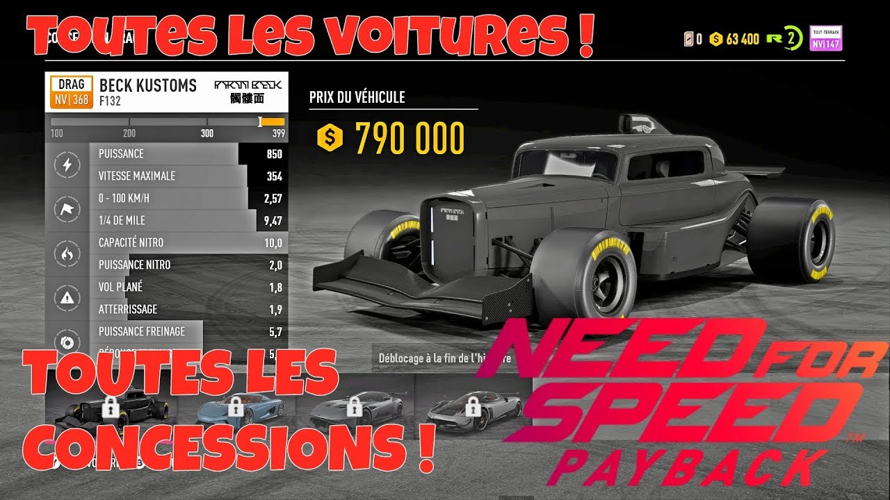 need for speed payback liste de toutes les voitures youtube. Black Bedroom Furniture Sets. Home Design Ideas