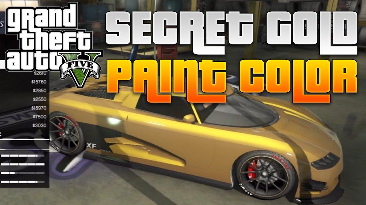 Gta 5 Online Secret Gold Paint Color Get Gold Cars Online Gta