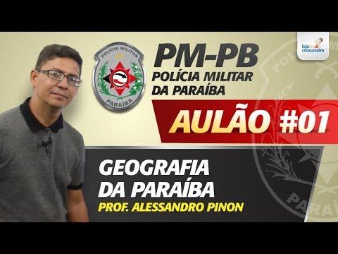 Aulão #01 - PM-PB - Geografia da Paraíba - Alessandro Pinon