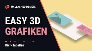 Einfache Isometie/3D Grafiken mİt Adobe Illustrator CC 2019.👍 [TUTORIAL]