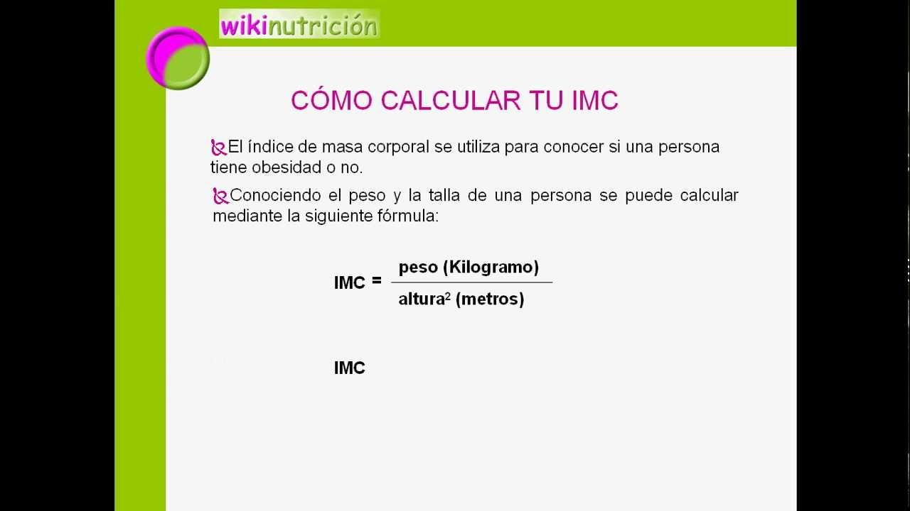 Indice masa corporal formula calcular