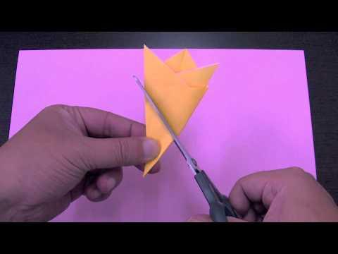 簡単 折り紙 折り紙 星 切る : youtube.com