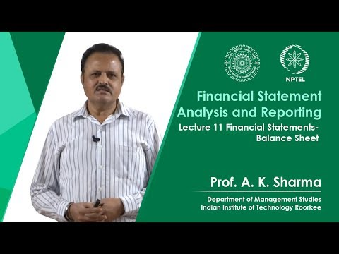 Lecture-11- Financial Statements - Balance Sheet