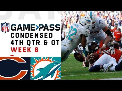 Bears vs. Dolphins Full 4th Quarter & OT   Week 6 NFL Game Pass