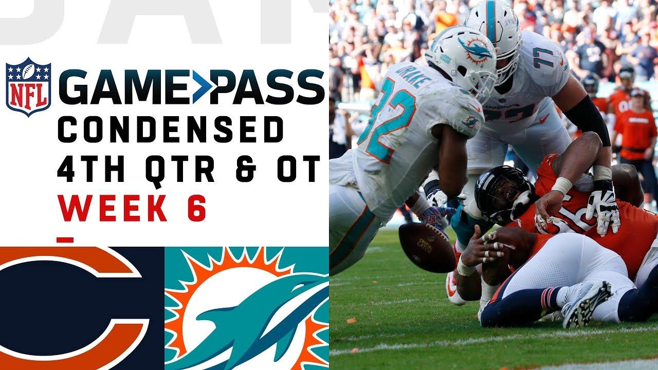 Bears vs. Dolphins Full 4th Quarter & OT | Week 6 NFL Game Pass