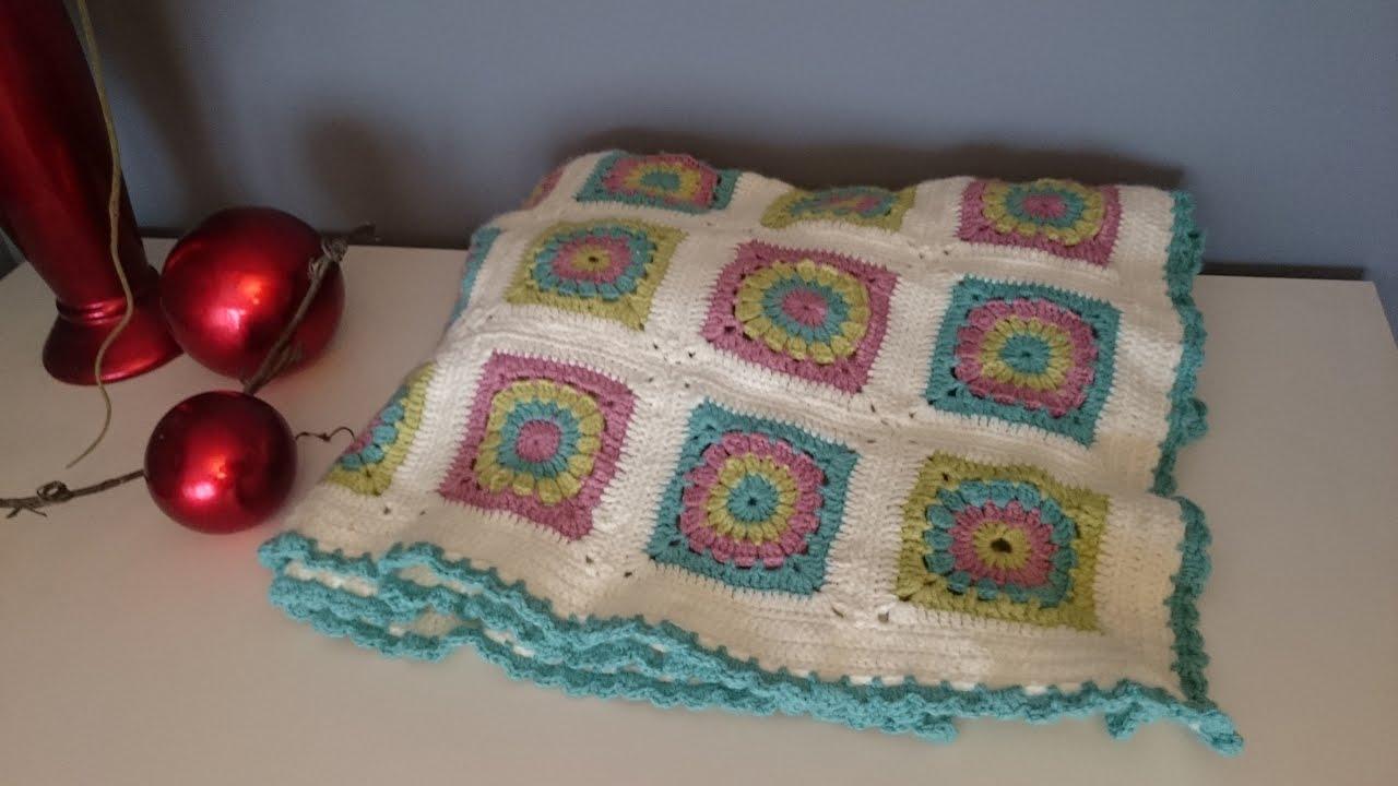 C mo hacer una manta de crochet youtube - Hacer manta de ganchillo ...