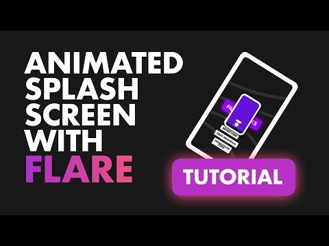 Animated Splash Screen using Rive   Flare