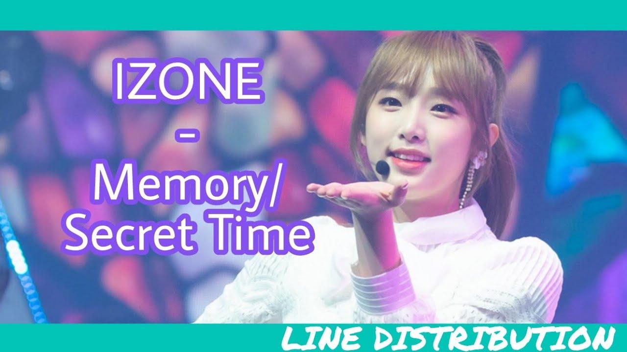 IZ*ONE/아이즈원 (IZONE) - Memory/Secret Time/비밀의 시간 | Line Distribution