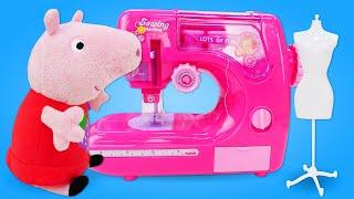 Свинка Пеппа стала Дизайнером. Одежда для кукол. Мультики игрушки