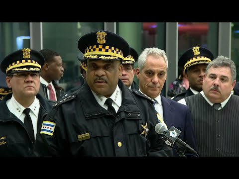 Chicago Police Superintendent Eddie Johnson, Mayor Rahm Emanuel Discuss Mercy Hospital Shooting
