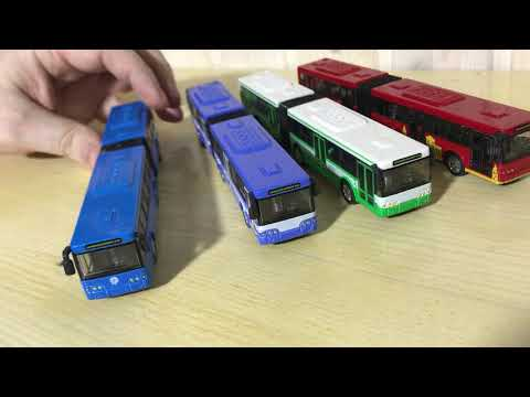 Игрушечный мини автобус с гармошкой - 4 цвета
