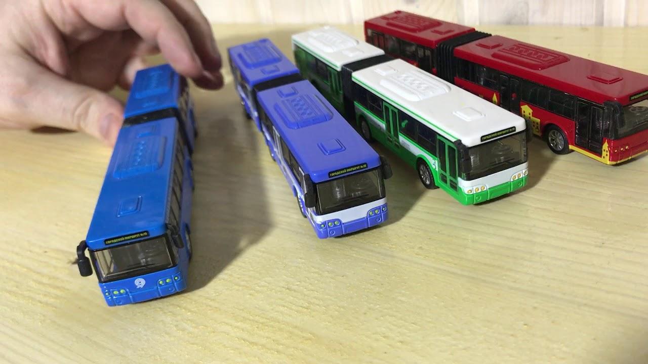 Игрушечный мини автобус с гармошкой - 4 цвета - YouTube