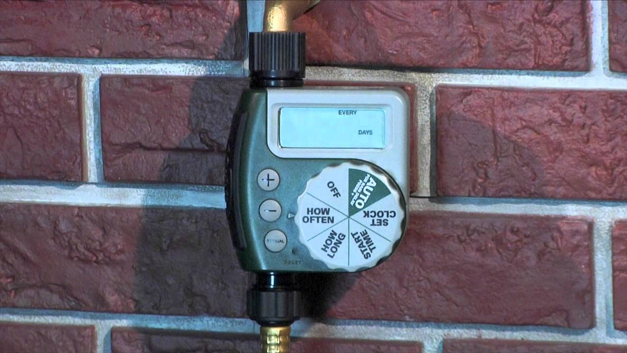 How to Program an Orbit Single Outlet Hose Faucet Timer - YouTube