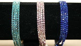 diamante crystal bracelet