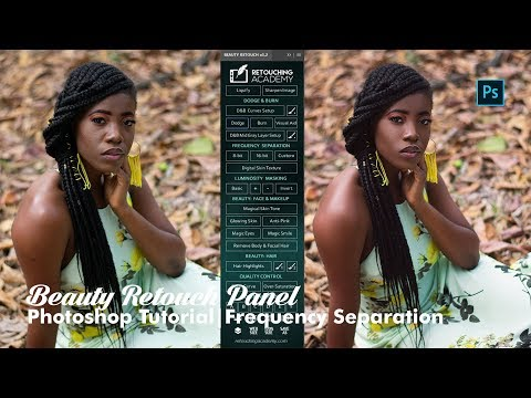 Retouching Academy - Beauty Retouch Panel - (Photoshop Frequency Separation Tutorial)
