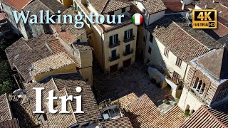 Itri, Italy【Walking Tour】With Captions - 4K