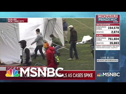 Striking images from New York City as remote hospitals arrive | Deadline | MSNBC