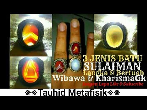 3 JENIS BATU SULAIMAN BERTUAH (Junjung Derajat,Motif Segitiga & Anggur Api Puser Bumi)