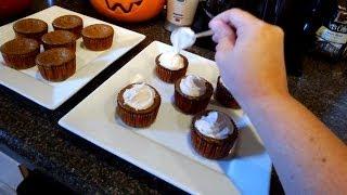 Pumpkin Pie Cupcakes Through Glass