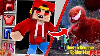 Minecraft - HOW TO BECOME SPIDER-MAN .EXE!!!