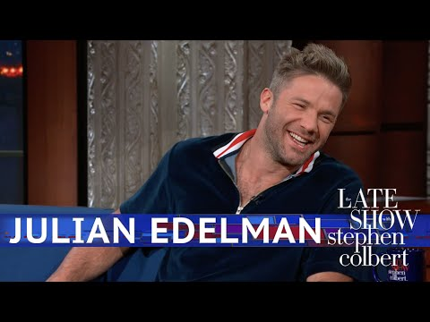 Julian Edelman was a guest on 'The Late Show with Stephen Colbert'
