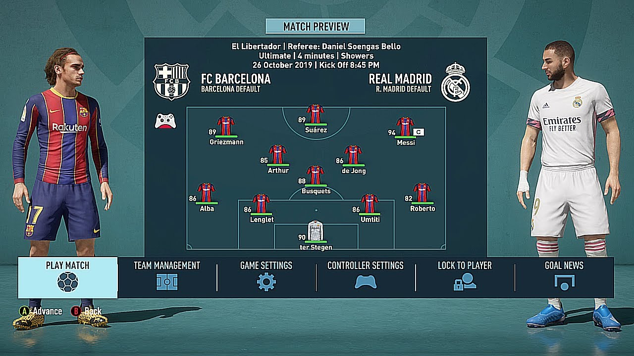 Fifa 21 Fc Barcelona Real Madrid Gameplay Pc Hdr Ultimate Mod Youtube