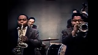 """Charlie Parker & Dizzy Gillespie, """"Hot House"""" at DuMont Television, February 24, 1952 (in color)"""