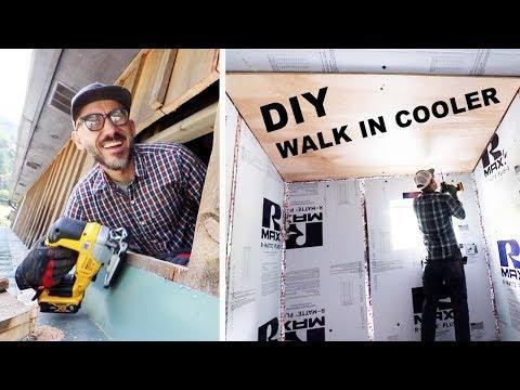 DIY Walk In COOLER BUILD (Insulating Walls)