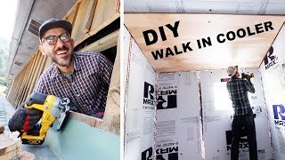 DIY Walk in COOLER BUILD (Insulating walls)