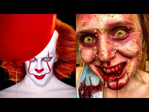 Creepiest Halloween Makeup Tutorials | Special Effects Makeup Transformations thumbnail