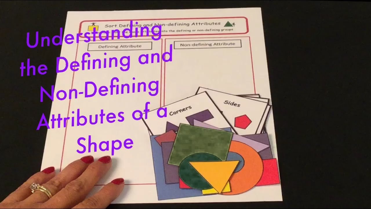 medium resolution of Defining and Non-Defining Attributes of a Shape - YouTube