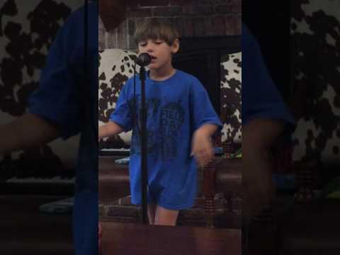 Five year old boy singing Anthem by Thomas Rhett