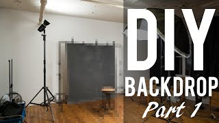 DIY Backdrop - My Experience Painting a 'Canvas' backdrop Part 1