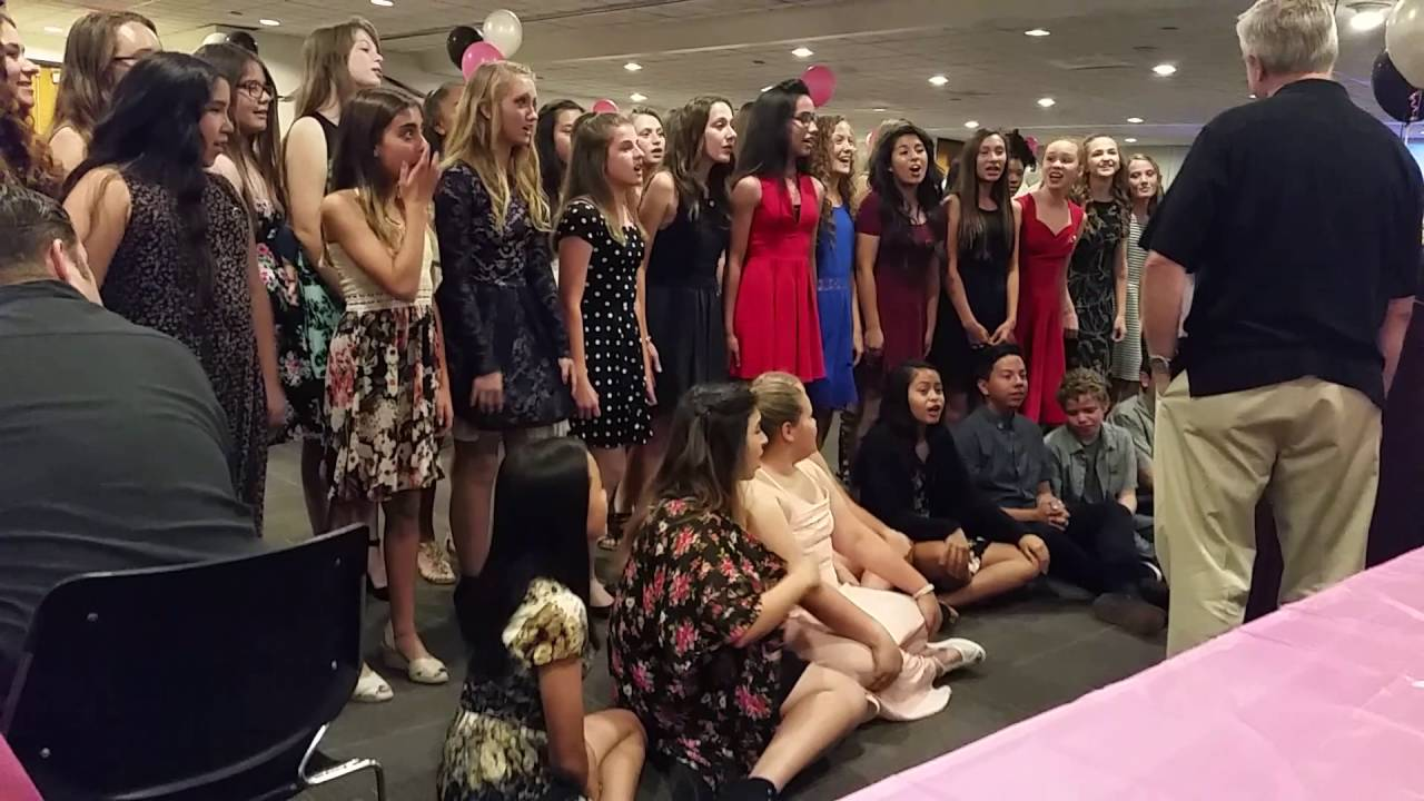 2016 BJH Show Choir EXPRESS Banquet - Special Surprise for Dave Willert - YouTube