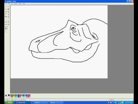 How to draw Tyrannosaurus in MSPaint