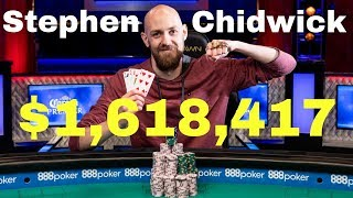 Stephen Chidwick wins his FIRST WSOP Bracelet and $1,618,417!!