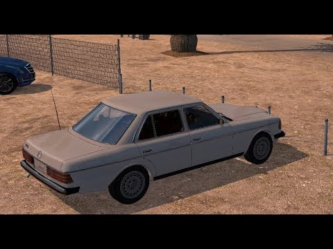 Mercedes W123 In Los Angeles - American Truck Simulator Retro Car Mod - Old Vintage Interior Drive