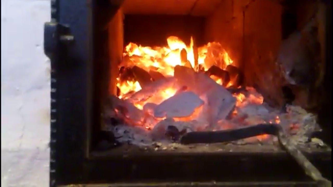 Пламенная печь. Работа на угле.