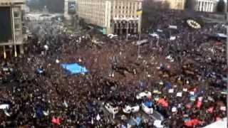 Скачать Начало Революции на Украине Декабрь 2013 Майдан Миллон протестующих