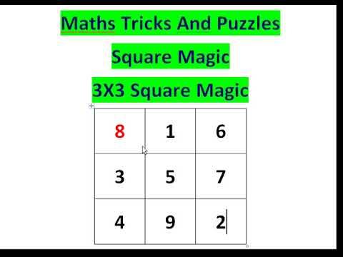 3x3 Square Magic|| Square Magic To Get Sum 15