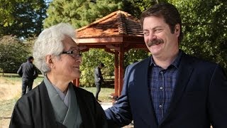 Illinois Alum Nick Offerman Builds Gazebo in Tribute to Professor Shozo Sato