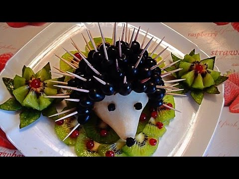 Как сделать ёжика из фруктов фото 460