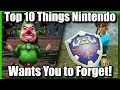 Top 10 Things Nintendo Wants You To Forget About Zelda